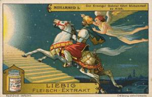 Image:Islamic-art-german-1928-advert-for-meat-extract-bovril-equivalent-showing-gabriel-guiding-muhammad-on-flying-horse-to-god.jpg
